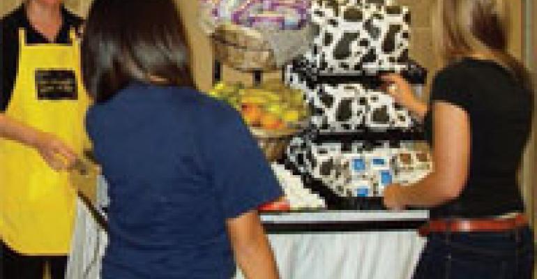 High School Breakfast Cart Visits Study Halls All Morning