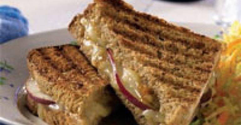 Cheddar and Pear Panini
