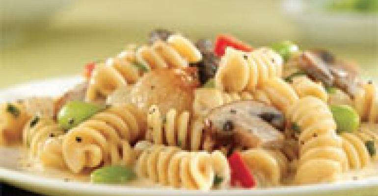 Rotini with Edamame and Duo Mushrooms