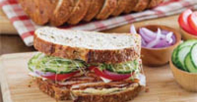 Roasted Turkey & Hummus Mediterranean Sandwich