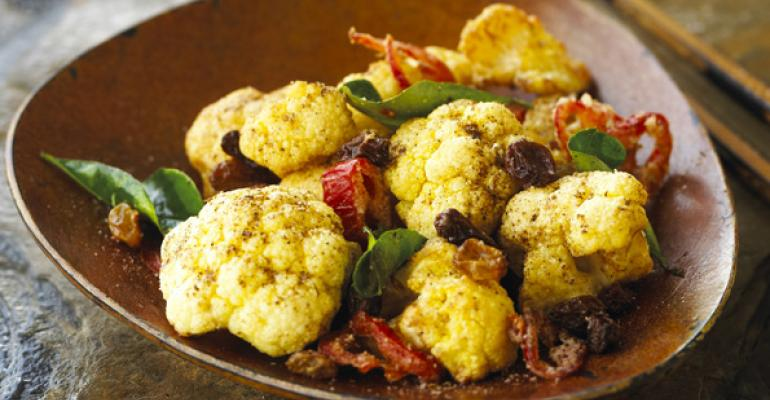 Cauliflower with Tribal Salt and California Raisins