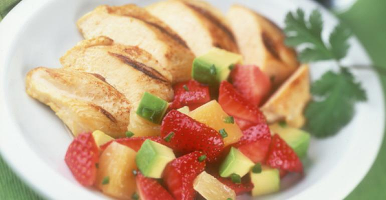 Chicken with Strawberry Avocado Salsa