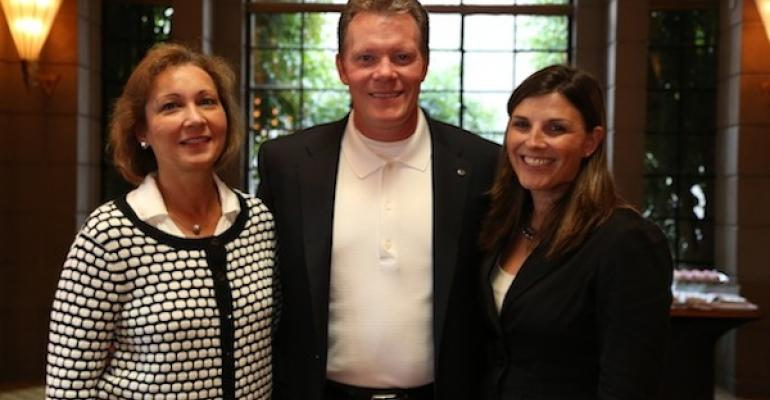l to r Natalie Laackman Vice President of Finance Brian Huff President and Jennifer Davis Marketing Manager all of Kelloggs Specialty Channels at the recent WFF Executive Summit in Phoenix