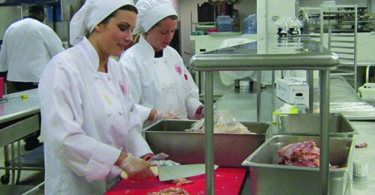 Montclair State students working in Sodexos campus facilities