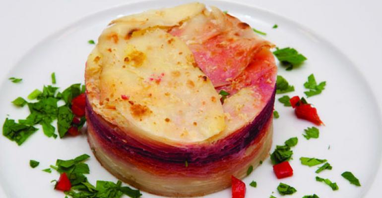 Vincents Beet  Potato Gratin