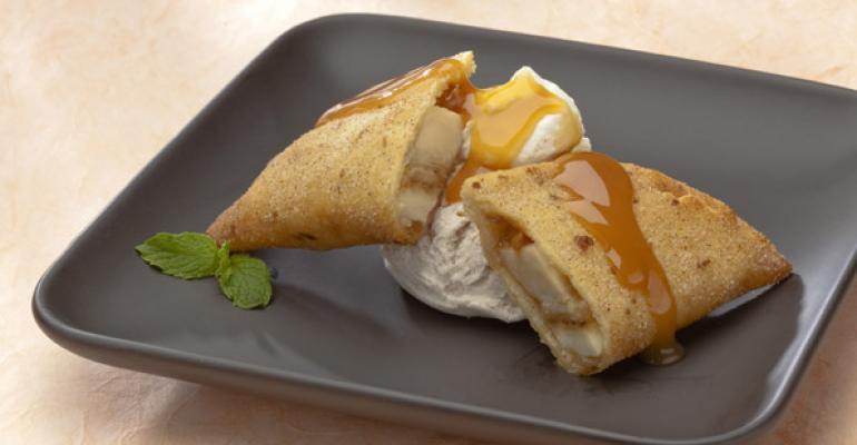 Banana Salted Caramel Dessert Empanadas