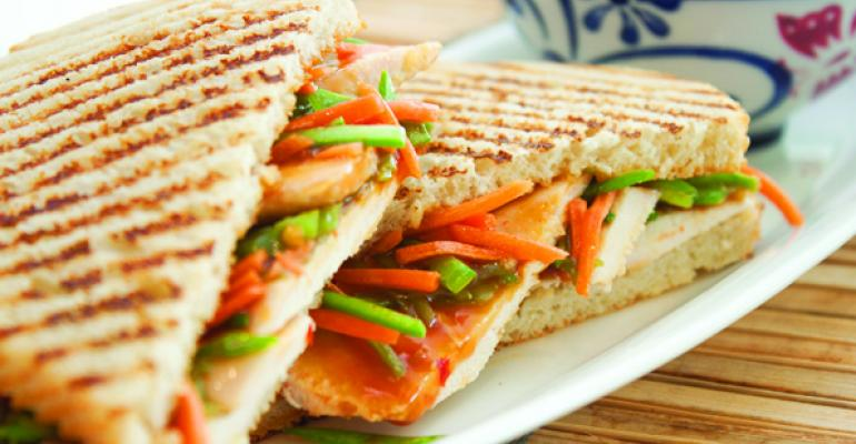 Peanut Ginger Chicken Panini