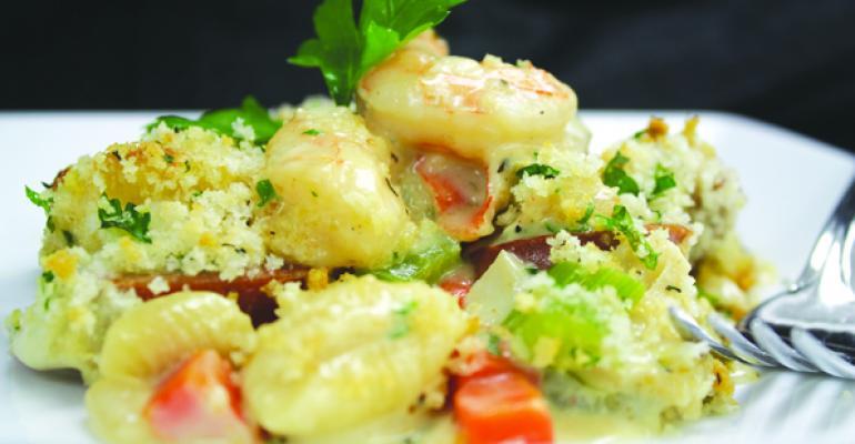 Seafood and Andouille Sausage Casserole