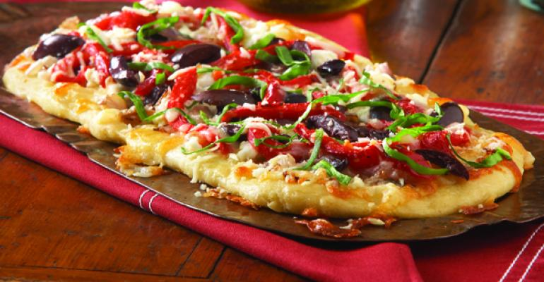 Goat Cheese and Kalamata Olives Flatbread