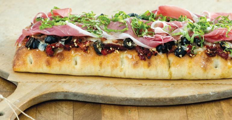 Rustic Focaccia Pizza