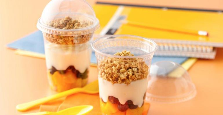 Peach Blueberry Parfaits photos from General Mills Foodservice
