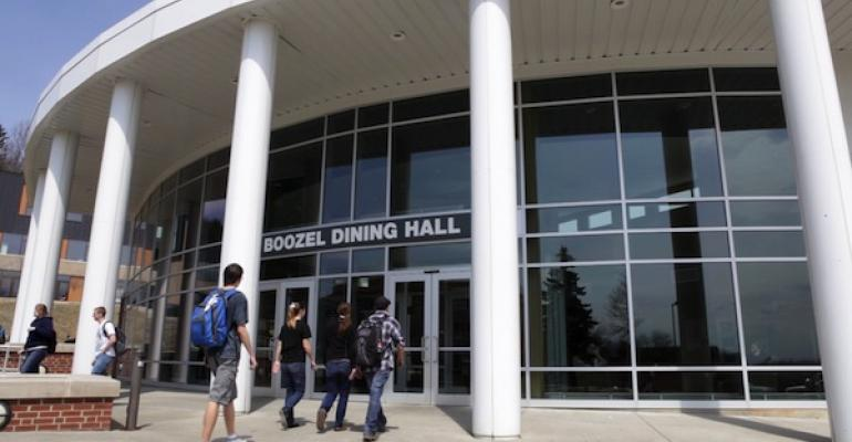 The entrance to the newly renovated Boozel Dinng Hall at Slippery Rock University