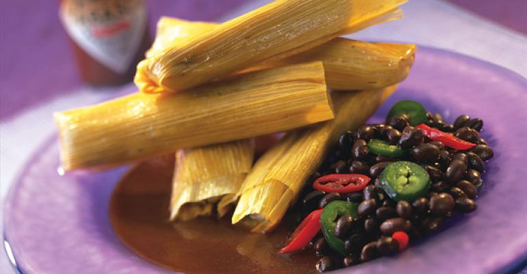 San Miguel Jalapeno Pork and Black Bean Tamales