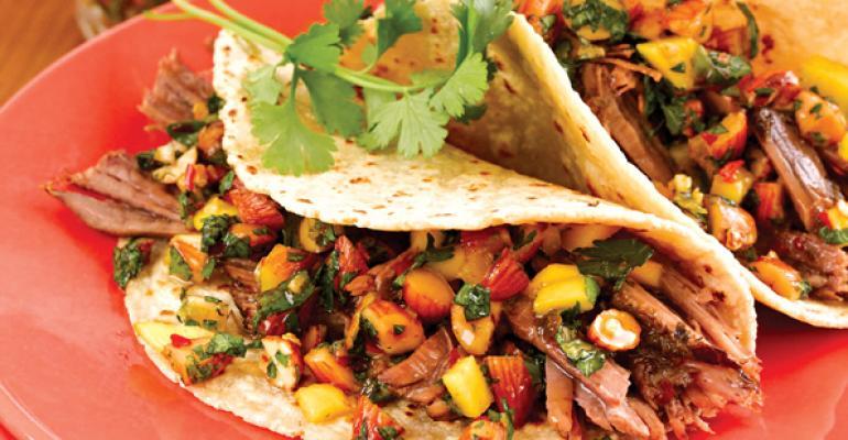 Beef Barbacoa Tacos with Almond Mojo