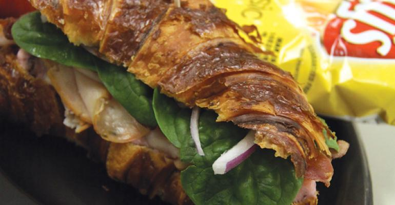 Sandwich of the Month: Turkey Cranberry on a Pretzel Bun