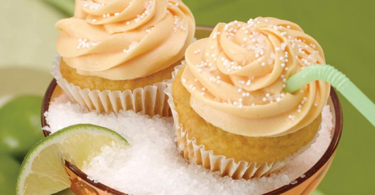 Honey Mango Margarita Cupcakes with Sea Salt