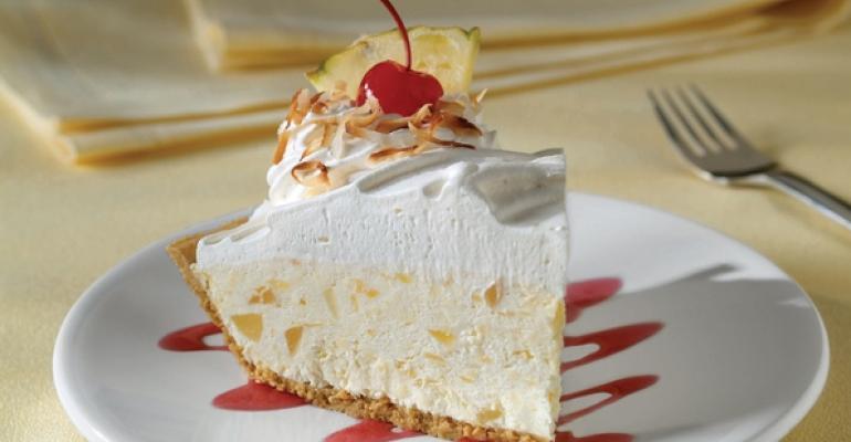 Creamy Pina Colada Pie