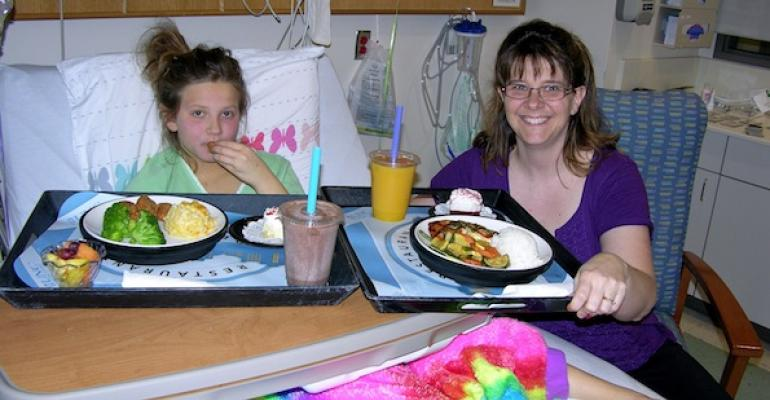 UNC Hospitals patient Mackenzie Keesor enjoys a meal with and her mom Kamela made easy by the hospital39s new guest tray program which allows both to order from the same source and menu and have it delivered at the same time