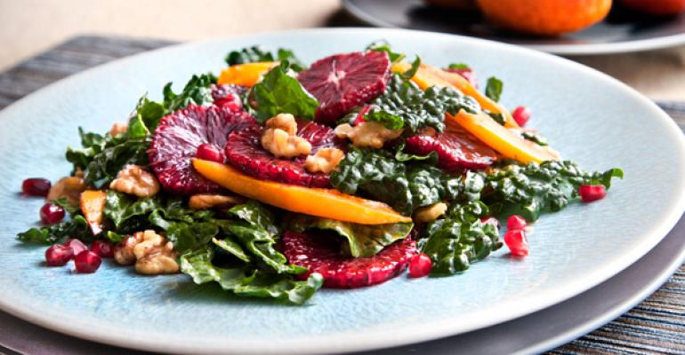 Blood Orange and Roasted Butternut Squash Kale Salad