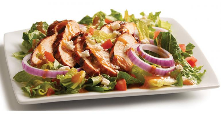 Red Chile Adobo Grilled Chicken Salad