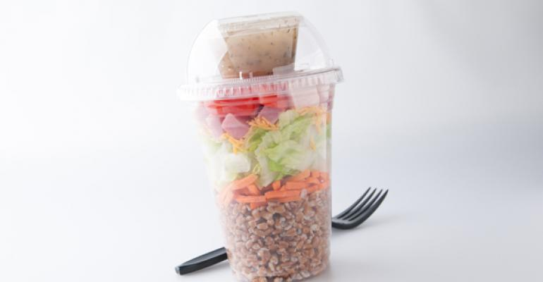 Chef's Shaker Salad with Wheat Berries