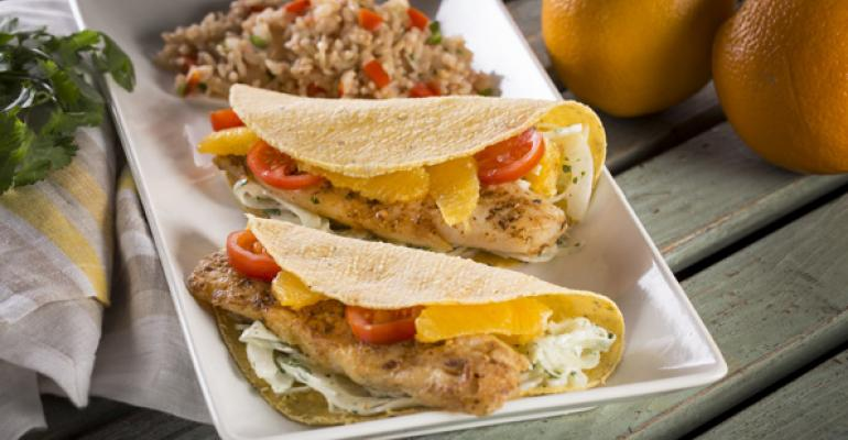 Grilled Fish Tacos with Fennel Slaw