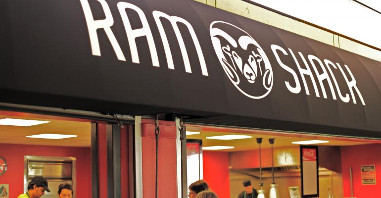 Colorado State39s new gourmet burger outlet opened without a name but after immediate success and a student naming contest an awning was added with the name Ram Shack