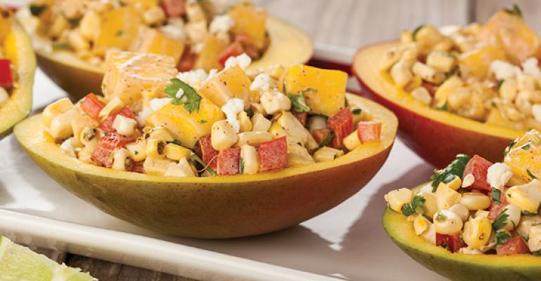 Grilled Corn and Mango Salad