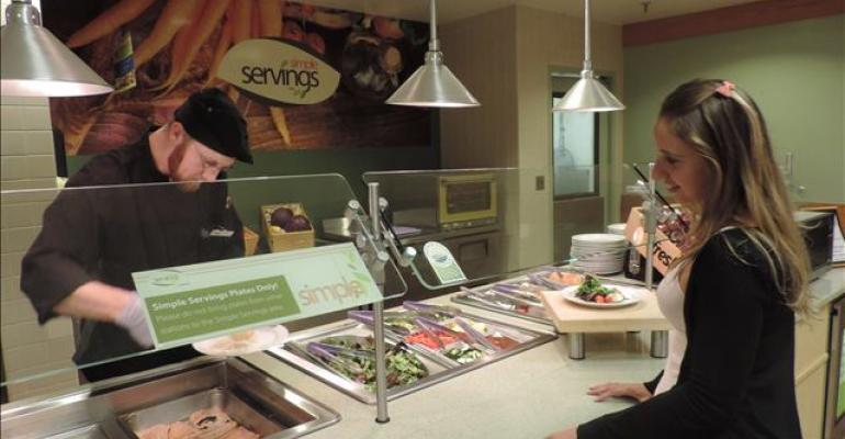 Allergen-free Simple Servings Station Set Up at University of Idaho