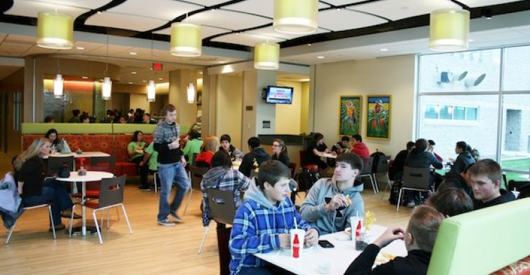 Students from Southridge Wash High School enjoy lunch in the retail cafe of the adjacent Trios Southridge Hospital
