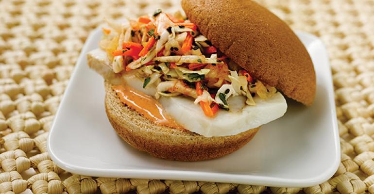 Spicy Alaska Pollock Sandwich
