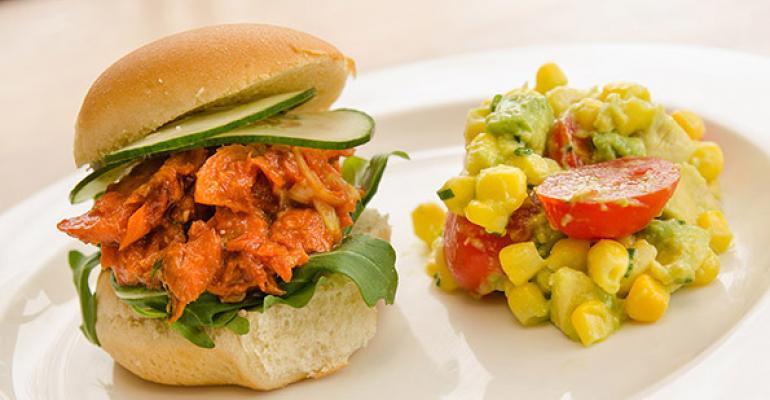 Maple BBQ Salmon Salad Sandwich