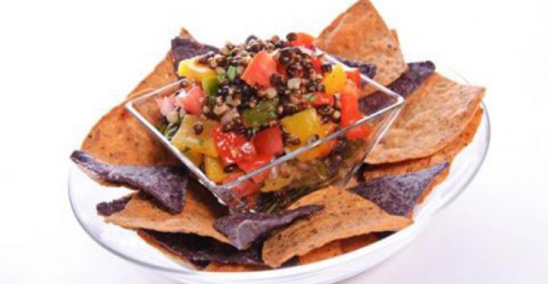 Char-Grilled Triple Pepper & Black Barley Salsa