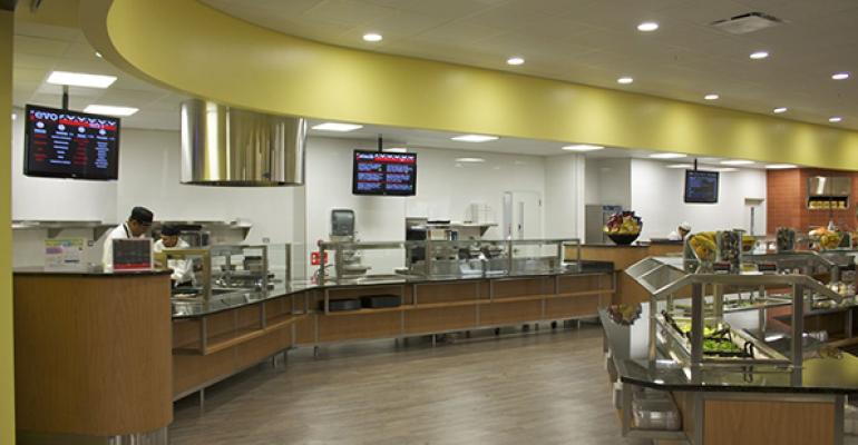 Food For Thoughtrsquos branded concepts line the servery at one of the companyrsquos operational sites