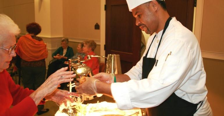 Unidine held a reception for Penick Village residents in April 16 to introduce some of its food offerings
