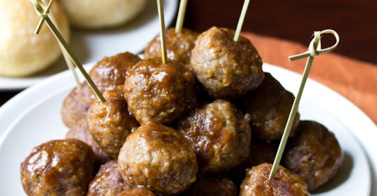 Spiced Apple Butter Swedish Meatballs