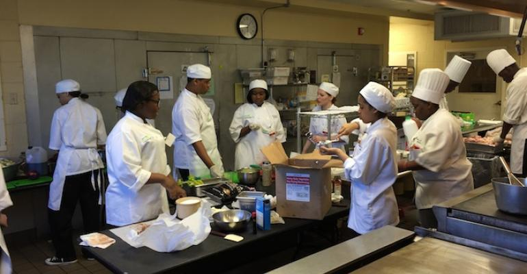 Teen chefs thrill seniors