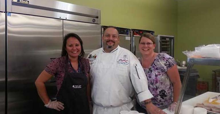Chef Jason Morse of 5280 Culinary with associates Dawn Kidd left and Kasja Larson RD