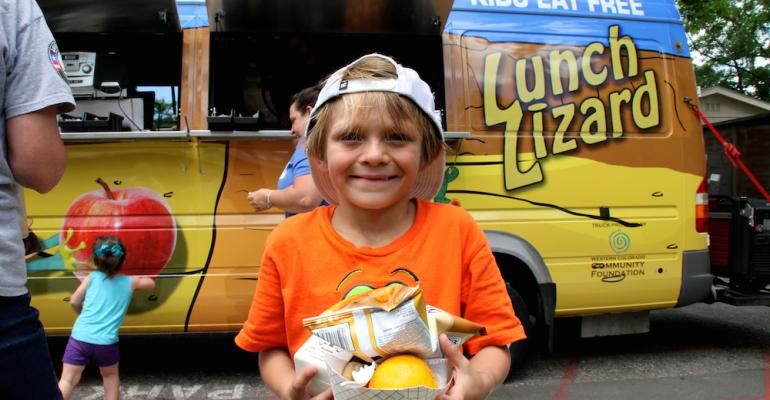 Some districts such as Mesa County Col Valley District 51 extend summer feeding programs through mobile meal providers like food trucks and buses