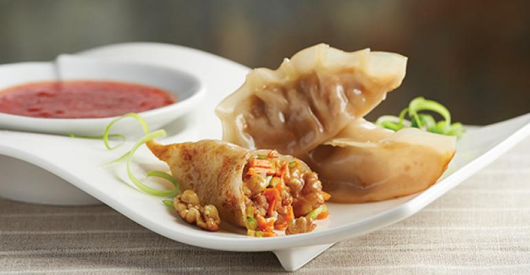 Pork, Shrimp & Walnut Pot Stickers