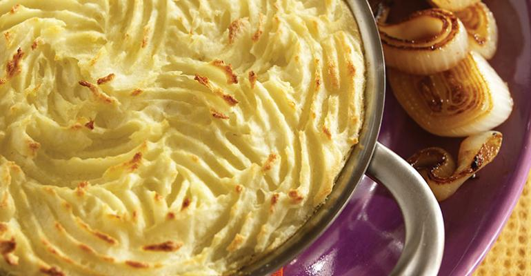 Potato Mushroom Pie with Caramelized Onions