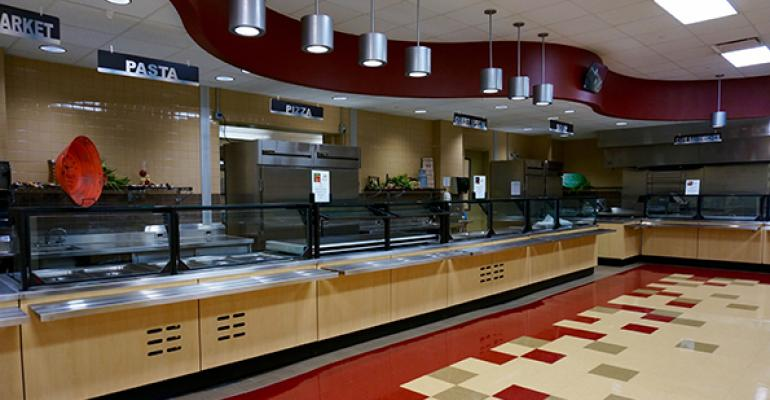 The cafeteria at Batavia High School The district dropped the high school out of the National School Lunch Program to increase options and variety without being constrained by USDA rules