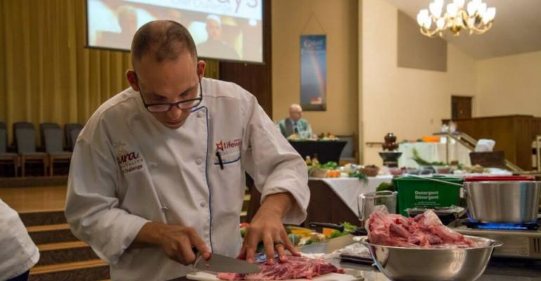 Cura chef Eldon Blosser participates in a recent chef challenge at client site Messiah Lifeways an eldercare facility typical of Cura39s healthcarefocused customer base
