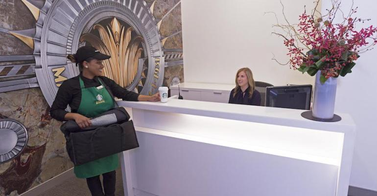 Starbucks pilots office delivery service in Empire State Building