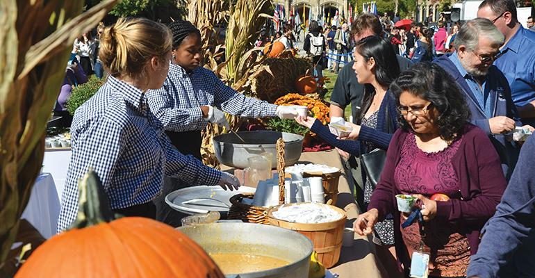 FOUNDING FARMERS Yalersquos Foundersrsquo Day celebration features harvest veggies galore
