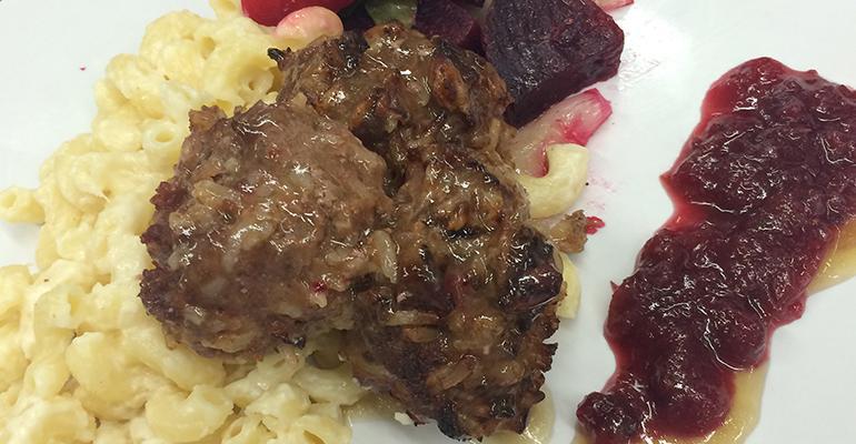 Whole Grain Swedish Meatballs with Cranberry Jam