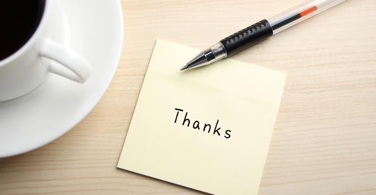 Editor's Note: 5 Things I'm Thankful For