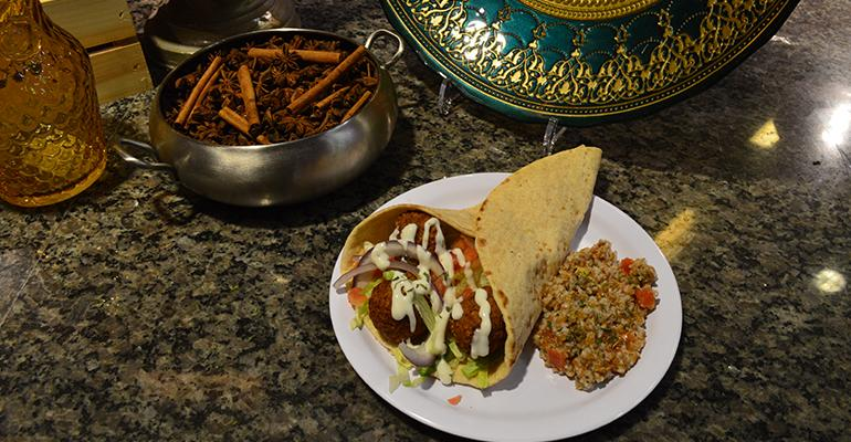 FRESH FALAFEL Ground chickpeas are transformed into something completely unique and delicious when falafel is made This dish and other Middle Eastern favorites are building a fan base at the Saffron Grill Templersquos new halal concept