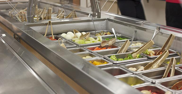 The bistro salad bar at Mason General Hospital