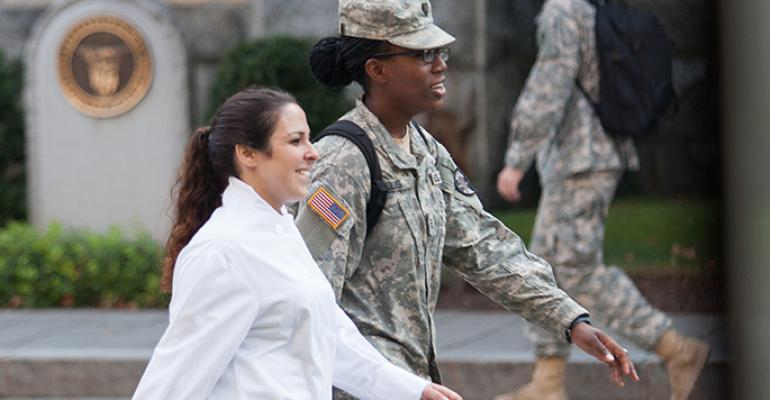 Military meets culinary in kitchen faceoff